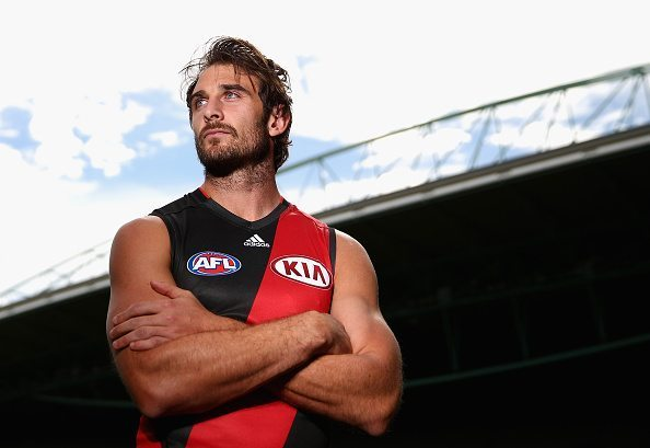 MELBOURNE, AUSTRALIA - MARCH 25:  Jobe Watson of the Essendon Bombers poses during the 20015 AFL Captains Interview Session at Etihad Stadium on March 25, 2015 in Melbourne, Australia.  (Photo by Robert Cianflone/Getty Images)