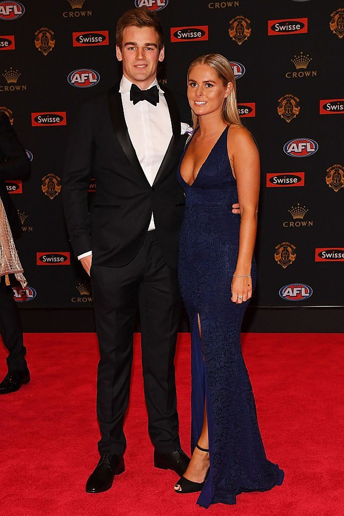 arrives ahead of the 2016 Brownlow Medal at Crown Entertainment Complex on September 26, 2016 in Melbourne, Australia.